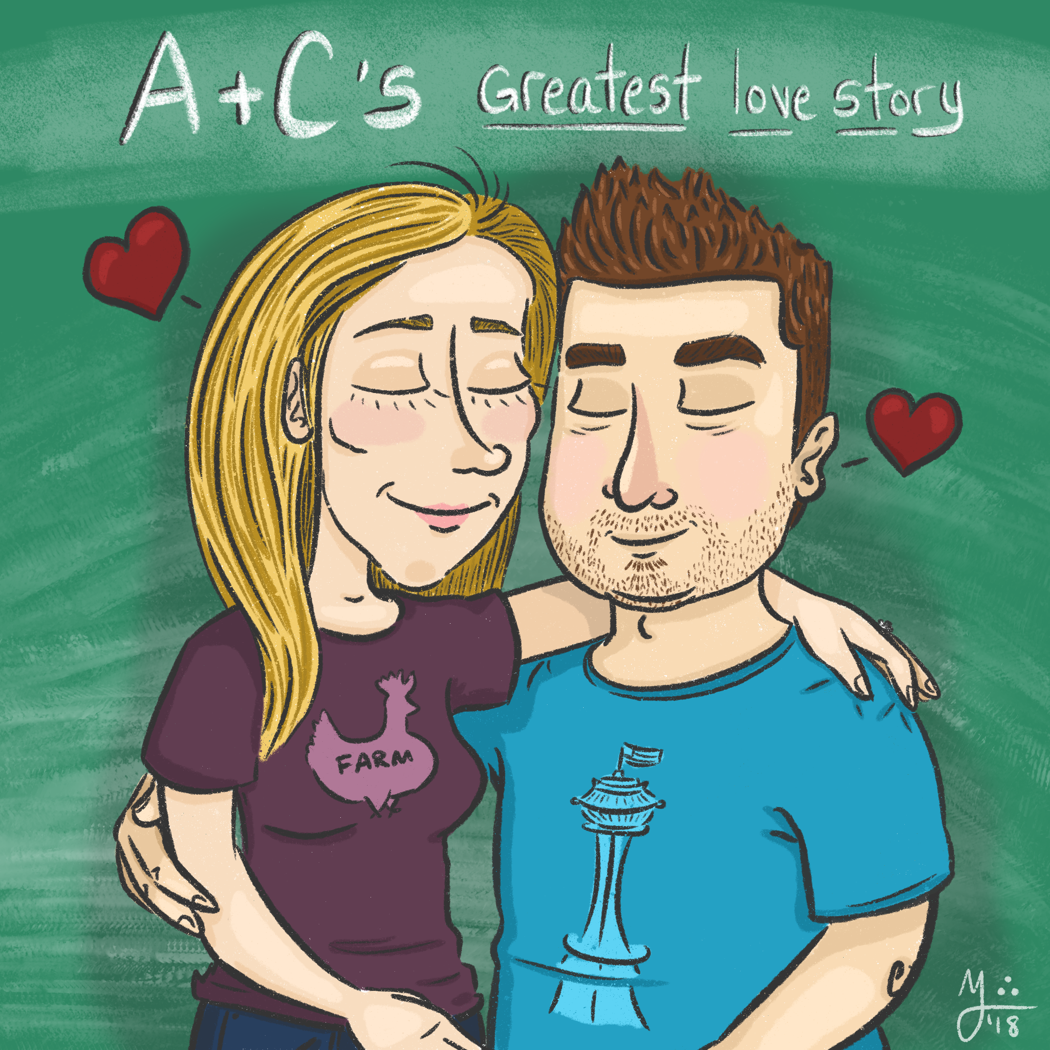 A Christmas gift for my dear sister this year! Her and her fiancé :)
