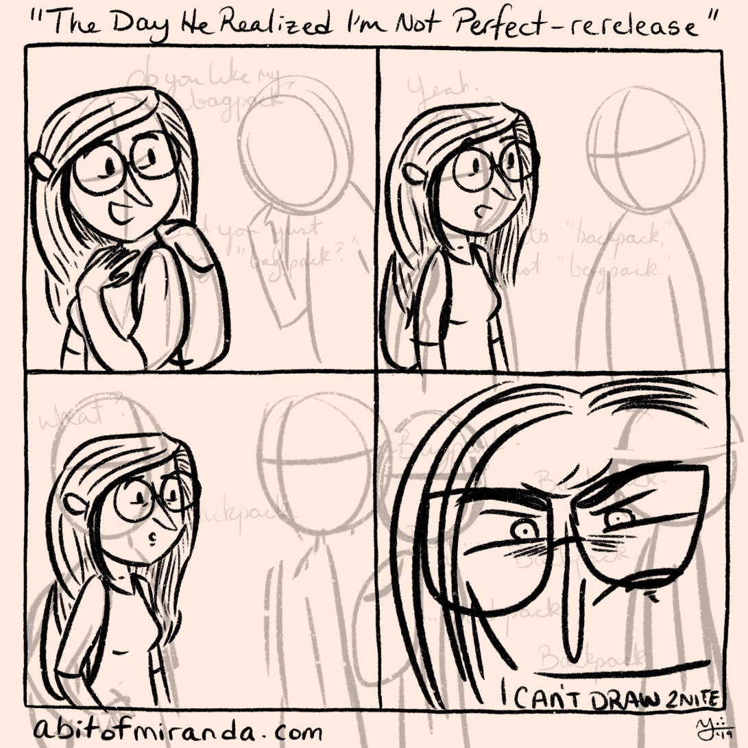 Here is an in-progress comic that is giving me no end of crap. So, I'm going to cut myself some slack and post it for Tuesday instead. I'm doing another rerelease comic! This time it's my very first one.